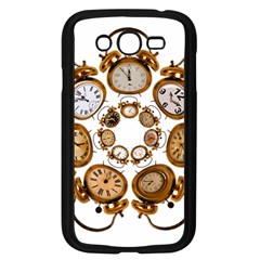 Time Clock Alarm Clock Time Of Samsung Galaxy Grand Duos I9082 Case (black) by Celenk