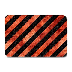 Stripes3 Black Marble & Copper Paint (r) Plate Mats by trendistuff