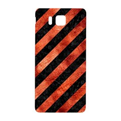 Stripes3 Black Marble & Copper Paint (r) Samsung Galaxy Alpha Hardshell Back Case by trendistuff