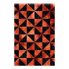 Triangle1 Black Marble & Copper Paint Shower Curtain 48  X 72  (small)  by trendistuff