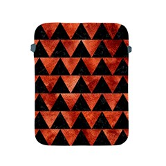Triangle2 Black Marble & Copper Paint Apple Ipad 2/3/4 Protective Soft Cases by trendistuff