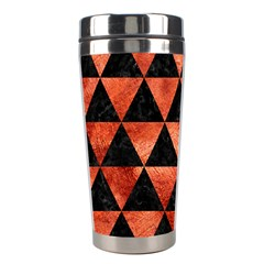 Triangle3 Black Marble & Copper Paint Stainless Steel Travel Tumblers by trendistuff