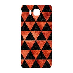 Triangle3 Black Marble & Copper Paint Samsung Galaxy Alpha Hardshell Back Case by trendistuff