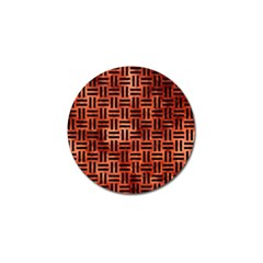 Woven1 Black Marble & Copper Paint Golf Ball Marker by trendistuff