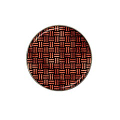 Woven1 Black Marble & Copper Paint (r) Hat Clip Ball Marker by trendistuff