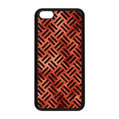 Woven2 Black Marble & Copper Paint Apple Iphone 5c Seamless Case (black) by trendistuff