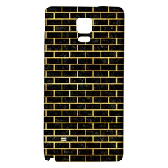 Brick1 Black Marble & Gold Paint (r) Galaxy Note 4 Back Case by trendistuff