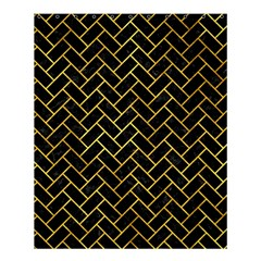 Brick2 Black Marble & Gold Paint (r) Shower Curtain 60  X 72  (medium)  by trendistuff