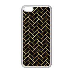 Brick2 Black Marble & Gold Paint (r) Apple Iphone 5c Seamless Case (white) by trendistuff
