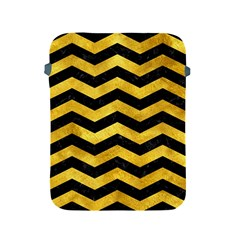 Chevron3 Black Marble & Gold Paint Apple Ipad 2/3/4 Protective Soft Cases by trendistuff