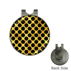 Circles2 Black Marble & Gold Paint Hat Clips With Golf Markers by trendistuff
