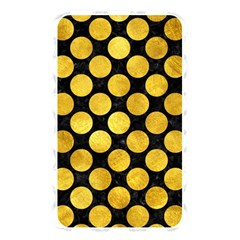 Circles2 Black Marble & Gold Paint (r) Memory Card Reader by trendistuff