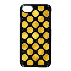 Circles2 Black Marble & Gold Paint (r) Apple Iphone 7 Seamless Case (black) by trendistuff