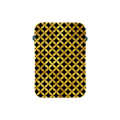 Circles3 Black Marble & Gold Paint (r) Apple Ipad Mini Protective Soft Cases by trendistuff