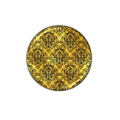 Damask1 Black Marble & Gold Paint Hat Clip Ball Marker (10 Pack) by trendistuff