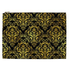Damask1 Black Marble & Gold Paint (r) Cosmetic Bag (xxl)  by trendistuff