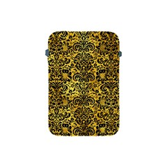 Damask2 Black Marble & Gold Paint Apple Ipad Mini Protective Soft Cases by trendistuff