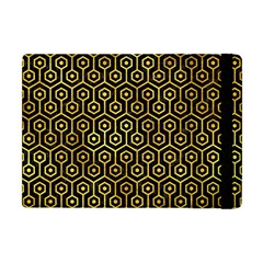 Hexagon1 Black Marble & Gold Paint (r) Apple Ipad Mini Flip Case by trendistuff