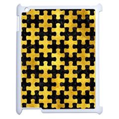 Puzzle1 Black Marble & Gold Paint Apple Ipad 2 Case (white) by trendistuff