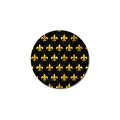Royal1 Black Marble & Gold Paint Golf Ball Marker by trendistuff