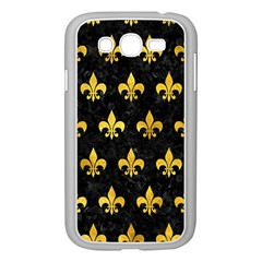 Royal1 Black Marble & Gold Paint Samsung Galaxy Grand Duos I9082 Case (white) by trendistuff