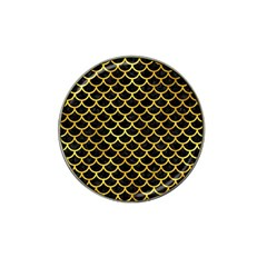 Scales1 Black Marble & Gold Paint (r) Hat Clip Ball Marker (4 Pack) by trendistuff