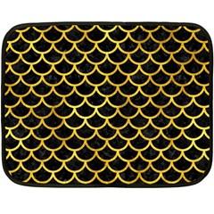 Scales1 Black Marble & Gold Paint (r) Fleece Blanket (mini) by trendistuff