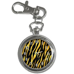 Skin3 Black Marble & Gold Paint (r) Key Chain Watches by trendistuff
