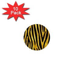 Skin4 Black Marble & Gold Paint (r) 1  Mini Buttons (10 Pack)  by trendistuff