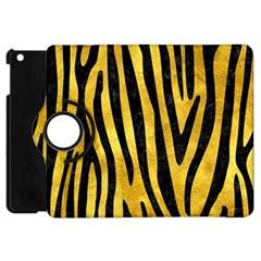 Skin4 Black Marble & Gold Paint (r) Apple Ipad Mini Flip 360 Case by trendistuff