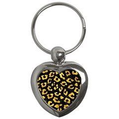 Skin5 Black Marble & Gold Paint Key Chains (heart)  by trendistuff