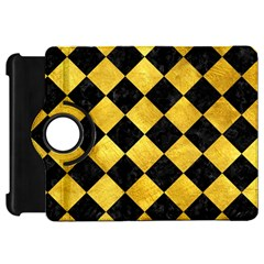 Square2 Black Marble & Gold Paint Kindle Fire Hd 7  by trendistuff