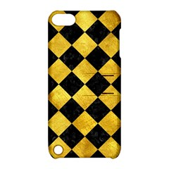 Square2 Black Marble & Gold Paint Apple Ipod Touch 5 Hardshell Case With Stand by trendistuff