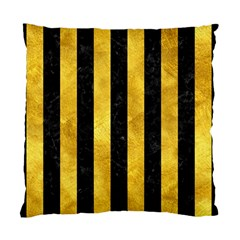 Stripes1 Black Marble & Gold Paint Standard Cushion Case (one Side) by trendistuff