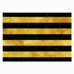 Stripes2 Black Marble & Gold Paint Large Glasses Cloth by trendistuff