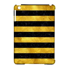 Stripes2 Black Marble & Gold Paint Apple Ipad Mini Hardshell Case (compatible With Smart Cover) by trendistuff
