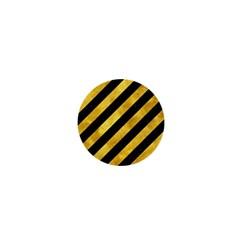 Stripes3 Black Marble & Gold Paint (r) 1  Mini Buttons
