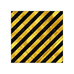 Stripes3 Black Marble & Gold Paint (r) Acrylic Tangram Puzzle (4  X 4 ) by trendistuff