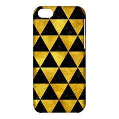 Triangle3 Black Marble & Gold Paint Apple Iphone 5c Hardshell Case by trendistuff