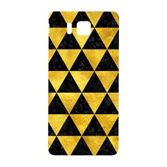 Triangle3 Black Marble & Gold Paint Samsung Galaxy Alpha Hardshell Back Case by trendistuff