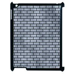 Brick1 Black Marble & Silver Paint Apple Ipad 2 Case (black) by trendistuff
