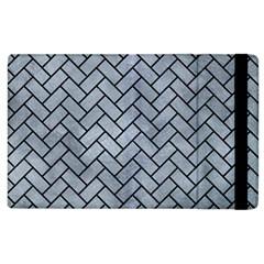 Brick2 Black Marble & Silver Paint Apple Ipad 3/4 Flip Case by trendistuff