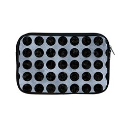 Circles1 Black Marble & Silver Paint Apple Macbook Pro 13  Zipper Case by trendistuff