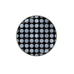 Circles1 Black Marble & Silver Paint (r) Hat Clip Ball Marker (4 Pack) by trendistuff