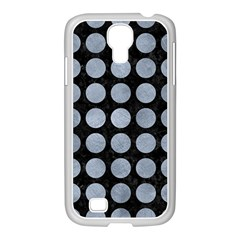 Circles1 Black Marble & Silver Paint (r) Samsung Galaxy S4 I9500/ I9505 Case (white) by trendistuff