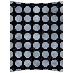 Circles1 Black Marble & Silver Paint (r) Back Support Cushion by trendistuff