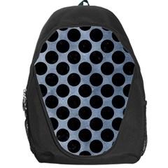 Circles2 Black Marble & Silver Paint Backpack Bag by trendistuff