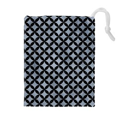Circles3 Black Marble & Silver Paint Drawstring Pouches (extra Large) by trendistuff
