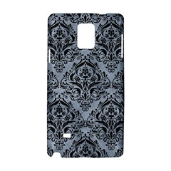 Damask1 Black Marble & Silver Paint Samsung Galaxy Note 4 Hardshell Case by trendistuff