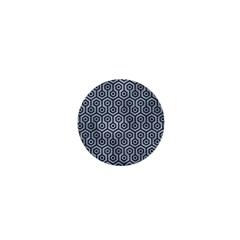Hexagon1 Black Marble & Silver Paint 1  Mini Buttons by trendistuff